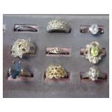 NINE(9) SIZE 6 COCKTAIL RINGS