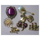 FLORAL, HOLIDAY & OTHER COSTUME BROACHES