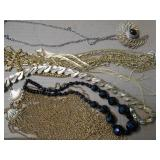 VARIETY OF MULTI-STRAND & OTHER COSTUME NECKLACES