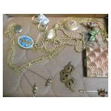 LARGE PENDANT COSTUME NECKLACES, BROACHES & MORE
