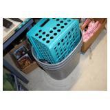 Plastic Crate & 3 Plastic Containers