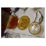 Amber Bowl,Carnival Compote,Dish,etc