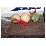 3 Vintage Ornaments