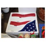 US Flag Serving Dish Set