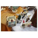 Lot of Christmas Village Pieces