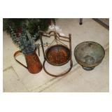 Decorative Metal Bowl,Pitcher,Stand