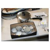 Lot of Zinc Jar Lids & Revereware Pot