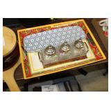 Decorative Serving Trays & Glass Serving Set