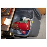 Tote of  Christmas Decorations