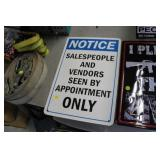 Sales People Metal Sign