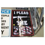 I Plead the 2nd Metal Sign