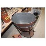 Metal Bucket & Stand