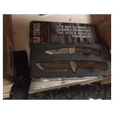 New Old Timer 2 pc Knife Set in Tin