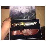 New Uncle Henry Hunting Knife w/ Leather Sheath