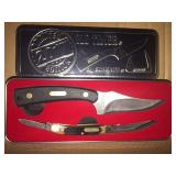 New 2 pc Old Timer Hunting and Pocket Knife Set