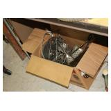 Box of Metal Decor,Brass,etc