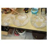 2 Glass Bowls & Platter