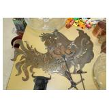Metal Chicken Family Yard Decor