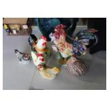Lot of Decorative Chickens