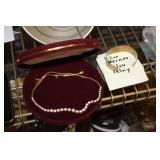 Necklace & Silver Inlay Bracelet