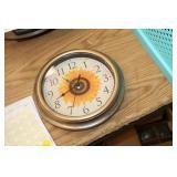 "9"" Sunflower Clock"