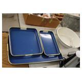 Tray Set & Enamel Bowls