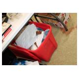 Tote of Various Linens