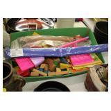 Lot of Toy Blocks,Decorative Flag,etc