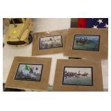 4 Small Civil  War Prints
