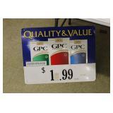 """GPC Cigarettes Metal Sign, 27X21"""""""