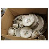 Box of Thompson Pottery Dishes