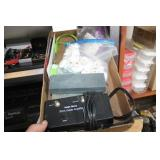 Box of Sharpening Stones,Amplifier,etc