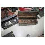 2 Metal Toolboxes of Various Tools
