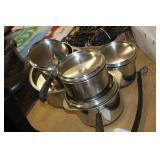 Lot of Stainless Cookware