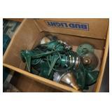 Box of Outdoor LIghts & Bulbs