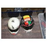 2 Mini Collector Racing Helmets
