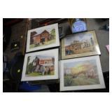 4 Antique Store Prints,8x10