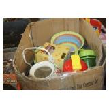 Box of Dishes,Candle Warmer,etc