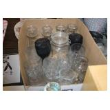 Box of Various Glasses