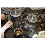 Lot of Silver Plate Tea/Coffee Serving Set