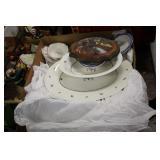 Box of Thodore Haviland Dishes,etc