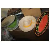 Lot of Various Dishes & Platters