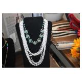 Necklace Display & Necklaces