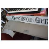 Open & Unique Gifts Metal Sign,6x24