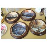4 Native American Hanging Plates