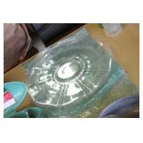 """14"""" Etched Glass Platter"""