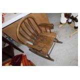 Wooden Childs Rocking Chair