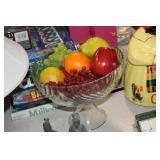 Glass Center Bowl & Decorative Fruit