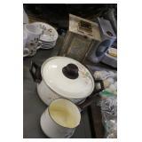 Vintage Cookware & Candle Lantern