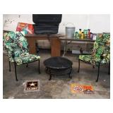 PATIO CHAIRS AND FIREPIT